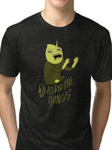 "Lemongrab ""WHO DID THE THING"" || ScarlettDesigns Tri-blend T-Shirt"