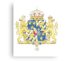 Swedish Coat of Arms Sweden Symbol  Canvas Print