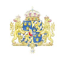 Swedish Coat of Arms Sweden Symbol  Photographic Print