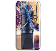 Recording Studio Microphone iPhone Case/Skin