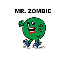 Mr Zombie Photographic Print
