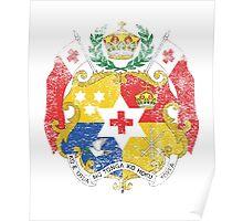 Tongan Coat of Arms Tonga Symbol Poster