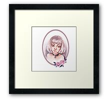 Girl wearing a choker Framed Print