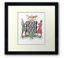 Zambian Coat of Arms Zambia Symbol Framed Print