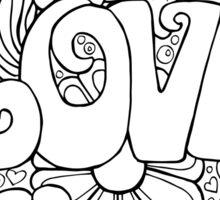 The colour of love Sticker