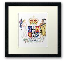 New Zealander Coat of Arms New Zealand Symbol Framed Print