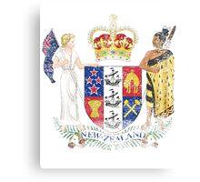 New Zealander Coat of Arms New Zealand Symbol Canvas Print