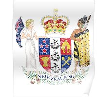 New Zealander Coat of Arms New Zealand Symbol Poster