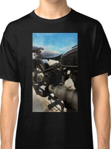 Vintage motorcycle watercolor painting Classic T-Shirt