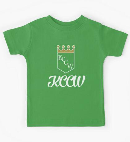 KCCW Backyard Wrestling Logo Kids Tee
