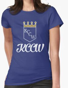 KCCW Backyard Wrestling Logo Womens Fitted T-Shirt