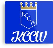 KCCW Backyard Wrestling Logo Metal Print