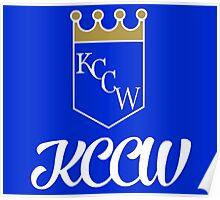 KCCW Backyard Wrestling Logo Poster