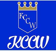 KCCW Backyard Wrestling Logo Photographic Print
