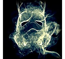 Smoke Stormtrooper helmet - Colour Photographic Print
