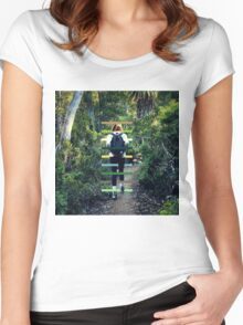 Travellers Eyes II Women's Fitted Scoop T-Shirt