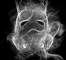 Smoke Stormtrooper Helmet - Black & White by kschruder