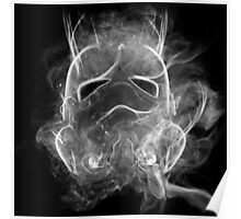 Smoke Stormtrooper Helmet - Black & White Poster