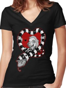 A beetlejuicey love Women's Fitted V-Neck T-Shirt