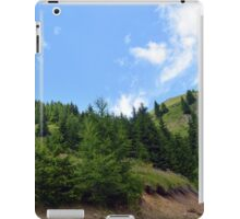 Natural background with mountains scenery and cloudy sky. iPad Case/Skin