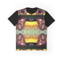 Sunset Contemplation Pattern Graphic T-Shirt