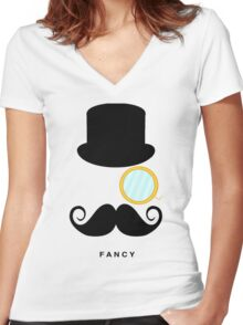 I'm So Fancy Women's Fitted V-Neck T-Shirt