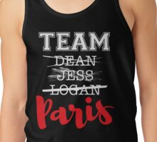 Team Paris - White and Red Tank Top