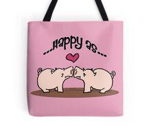 Happy as pigs in mud! Tote Bag