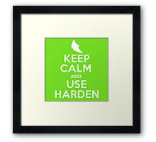Pokemon - Keep Calm and Use Harden - Metapod Design Framed Print