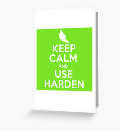 Pokemon - Keep Calm and Use Harden - Metapod Design Greeting Card