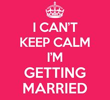 Keep Calm Married Quote Womens Fitted T-Shirt