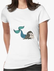 """""""Blow a Kiss"""" Mermaid Womens Fitted T-Shirt"""