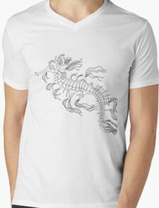 Camouflage Horse of Sea Mens V-Neck T-Shirt