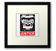 Justice For Harambe Framed Print