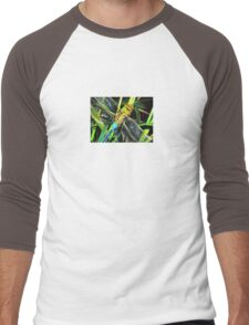 Blue Dragonfly Wings Men's Baseball ¾ T-Shirt