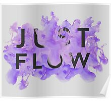 JUST FLOW (Lilac and Grey) Poster