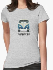 Roadtrip VW Van Travel Car Old School Vintage Tshirt Womens Fitted T-Shirt