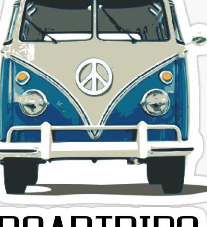 Roadtrip VW Van Travel Car Old School Vintage T shirt Inspirational Motivational Quotes Sticker
