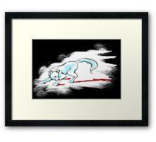 Blood Wolf - Black Framed Print