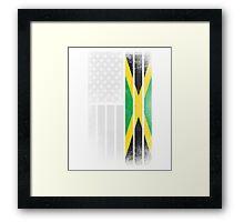 Jamaican American Flag Framed Print