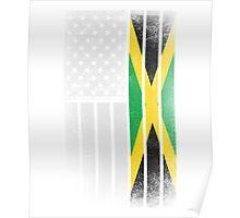 Jamaican American Flag Poster