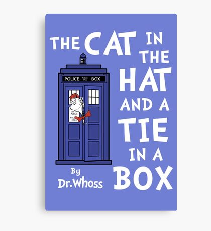 The Cat in the Hat and a Tie in a Box Canvas Print