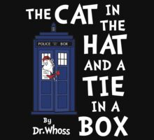 The Cat in the Hat and a Tie in a Box One Piece - Long Sleeve