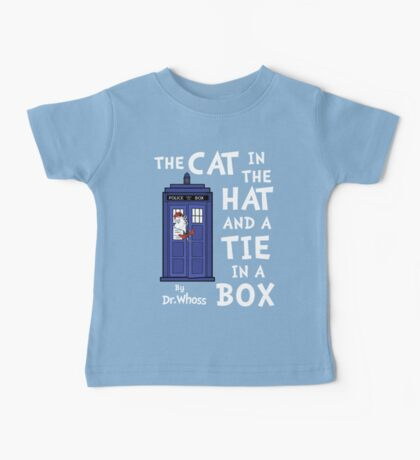 The Cat in the Hat and a Tie in a Box Baby Tee