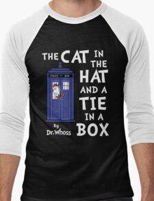The Cat in the Hat and a Tie in a Box Men's Baseball ¾ T-Shirt