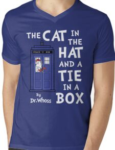 The Cat in the Hat and a Tie in a Box Mens V-Neck T-Shirt