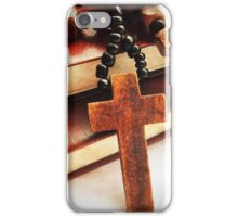 Wooden Cross and Rosary iPhone Case/Skin