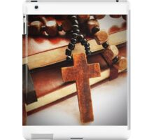 Wooden Cross and Rosary iPad Case/Skin