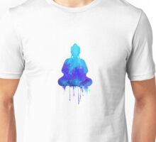 Blue Buddha watercolor illustration  Unisex T-Shirt