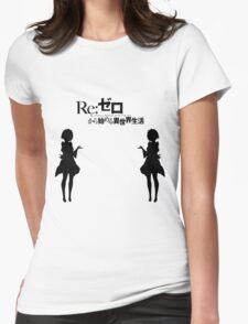 Re: Zero kara Hajimeru Isekai Seikatsu (Black Edition) Womens Fitted T-Shirt